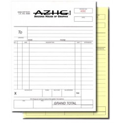 "NCR Carbonless Forms 8.5"" x 11"" - Single Sided, Two Part"