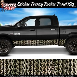 Silver Chains Rocker Panel Decal Set