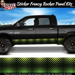 Green Diamond Fade Rocker Panel Decal Set