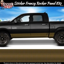 Gold Diamond Grate Rocker Panel Decal Set