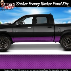 Purple Diamond Plate Rocker Panel Decal Set
