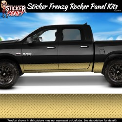 Gold Diamond Plate Rocker Panel Decal Set