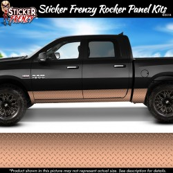 Rose Gold Diamond Plate Rocker Panel Decal Set
