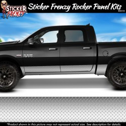 Silver Diamond Plate Rocker Panel Decal Set