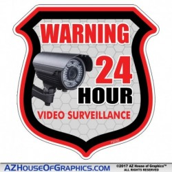 SHIELD VIDEO SURVEILLANCE Stickers