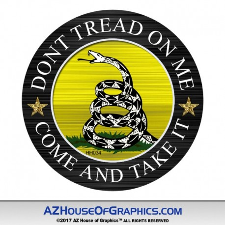 Dont Tread Come and Take It Circle Hard Hat Sticker - HH034