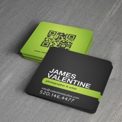 Square Social Media Business Cards