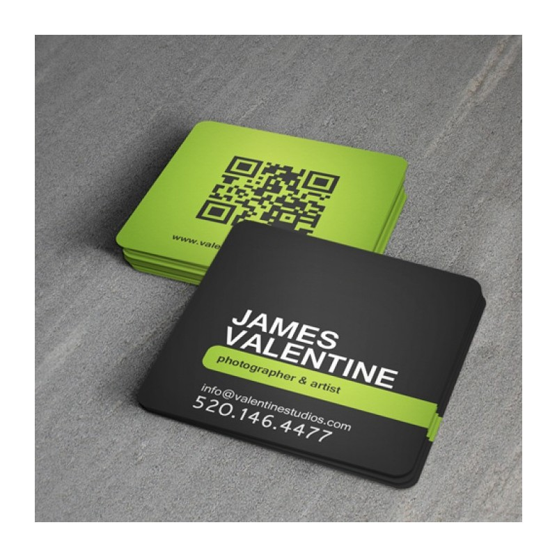 Square Full Color Business Cards