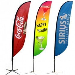 Feather Flag - Full Color Custom Print - Double Sided.  COMPLETE PACKAGE!