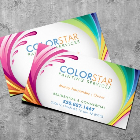 Economy speed business cards economy full color business cards reheart Gallery
