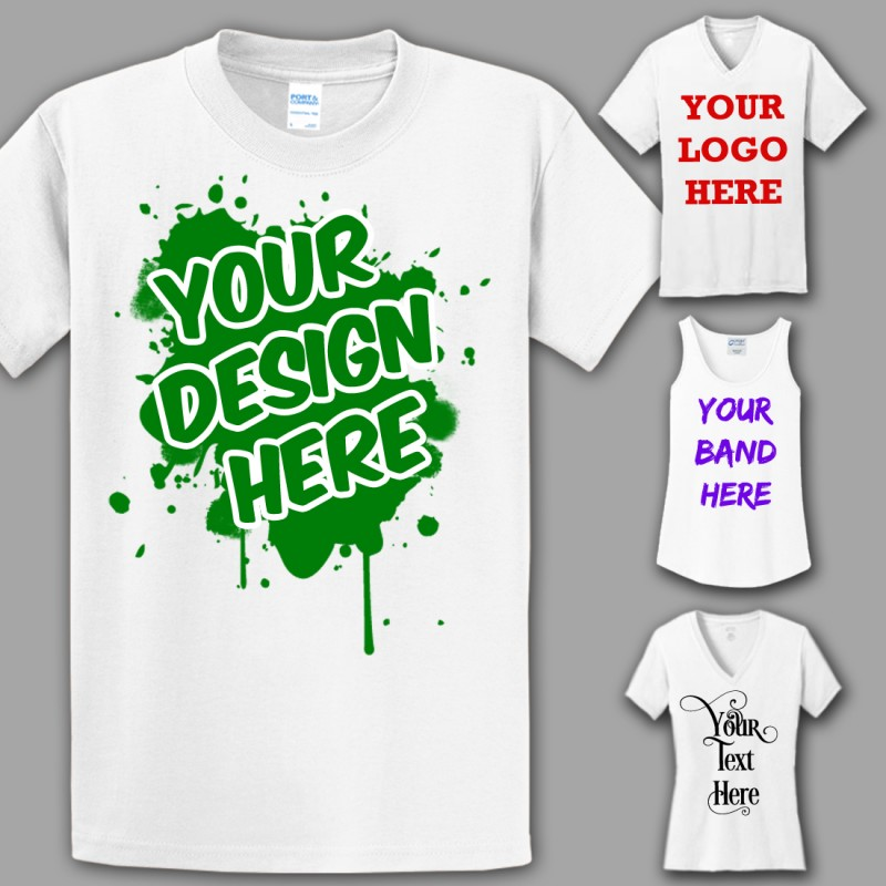 31fe8341 ... Custom Economy T-Shirts, Single Color, Single Sided