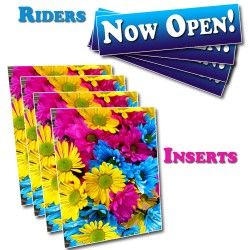 """Coroplast Top Riders for 36"""" A-Frame Sign (6""""x 24"""")"""